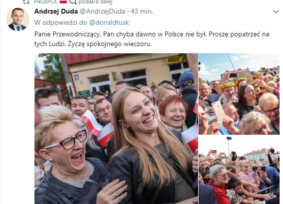 Andrzej Duda odpowiedział Donaldowi Tuskowi.