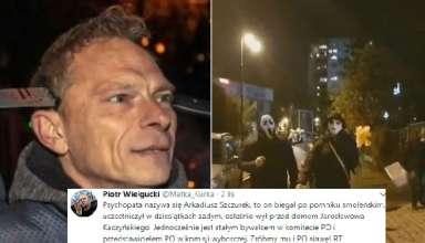 Piotr Wielgucki ujawnił personalia mężczyzny z nożem w głowie.