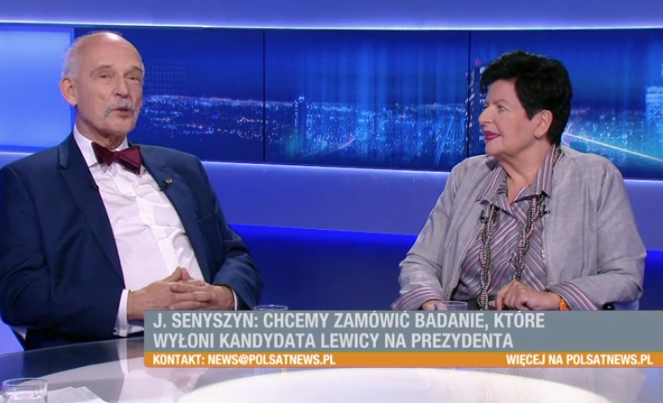 Janusz Korwin-Mikke i Joanna Senyszyn