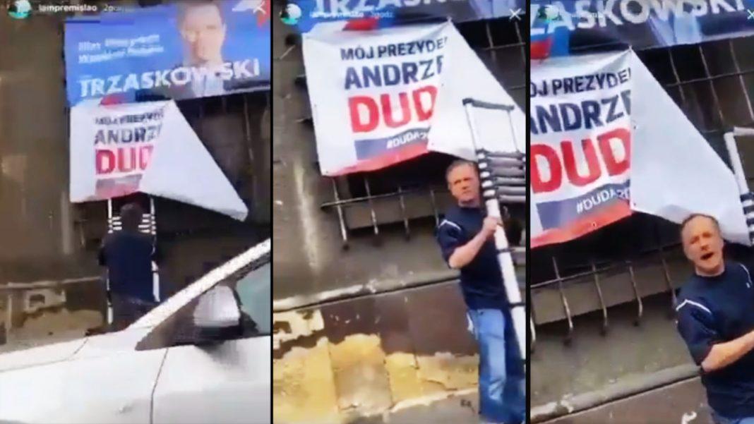 Wyborca Trzaskowskiego zaatakował mężczyznę