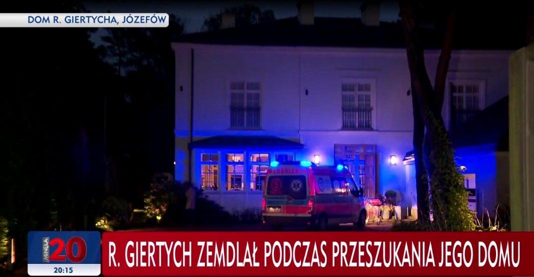 propolski.pl: Roman Giertych zemdlał podczas przeszukania domu