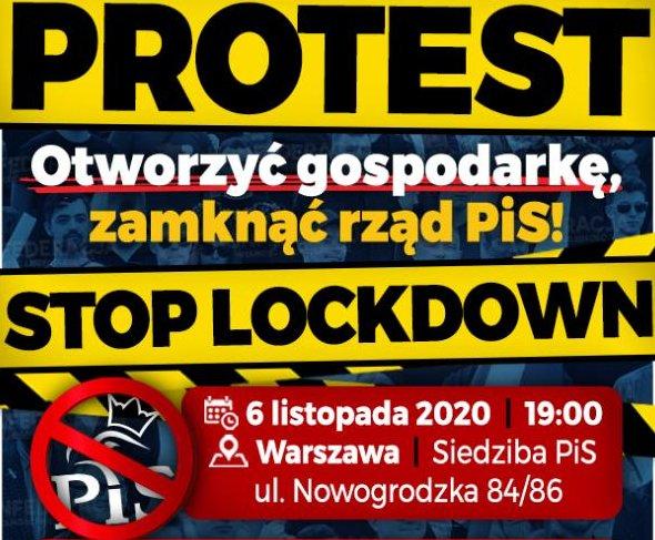 propolski.pl: Już jutro protest przeciwko lockdown