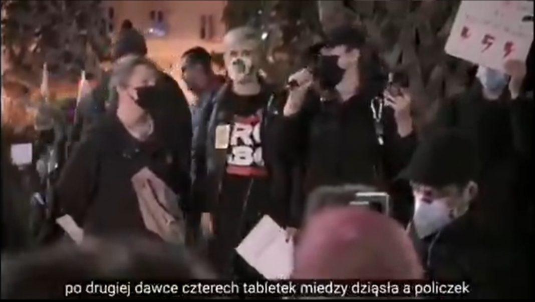 propolski.pl: Aborcyjne przemówienie podczas strajku