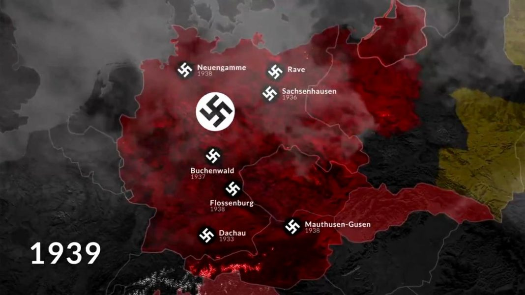 propolski.pl: Animacja: mapa niemieckich obozów koncentracyjnych