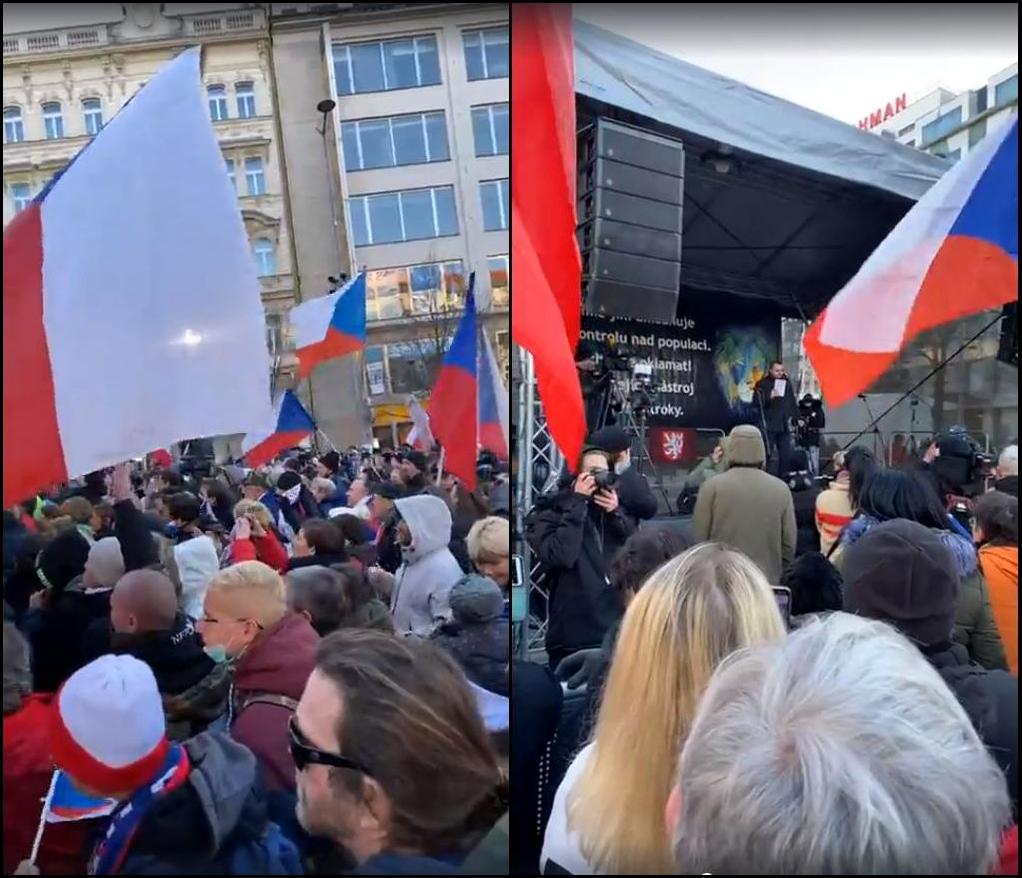 propolski.pl: Czesi protestują przeciwko obostrzeniom na ulicach Pragi