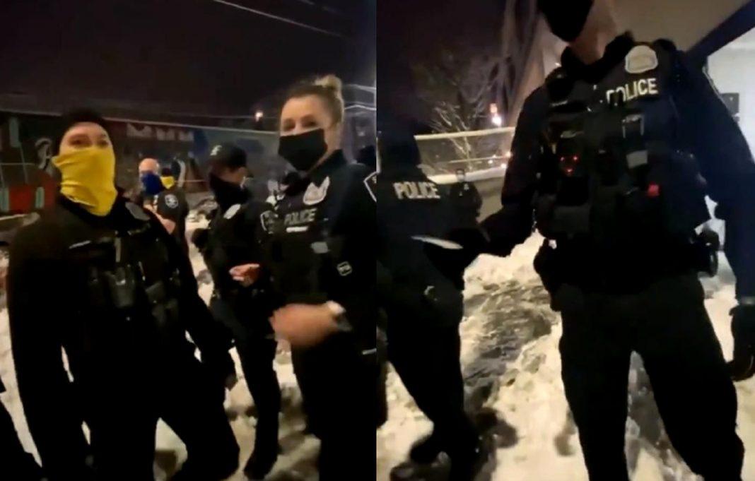 """propolski.pl: Policjant w mgnieniu oka uspokoił Antifę: """"Chcesz naklejkę? Wydajesz się smutny"""" [WIDEO]"""