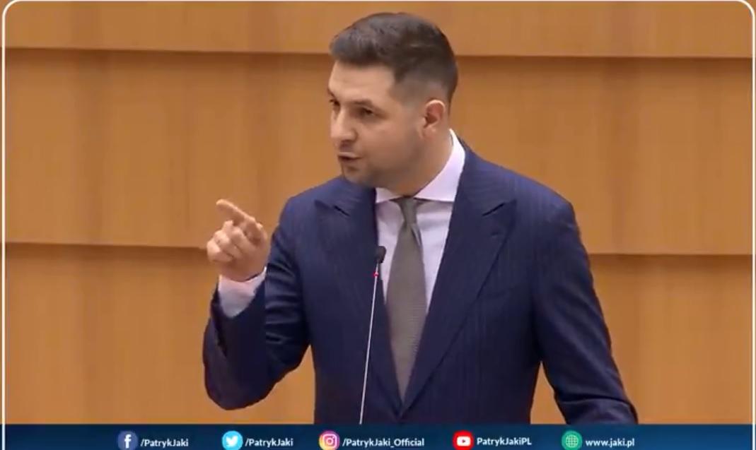 propolski.pl: Mocne wystąpienie europosła Patryka Jakiego. Tego komisarz UE nie chciał usłyszeć! [WIDEO]