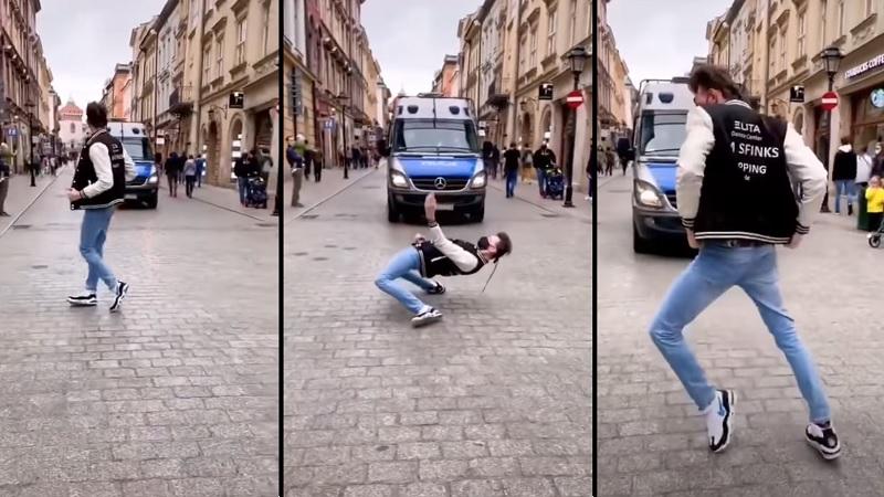 propolski.pl: Michael Jackson żyje? Mężczyzna tańczy w rytmie króla pop przed polską policją [WIDEO]