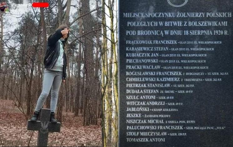 propolski.pl: Skakała po grobach polskich żołnierzy