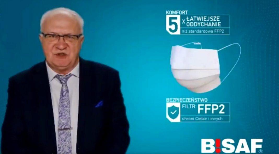 propolski.pl: Prof. Simon reklamuje maseczki