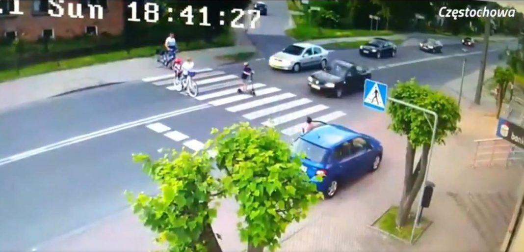 propolski.pl: Prawie potrącił i zabił chłopca na pasach