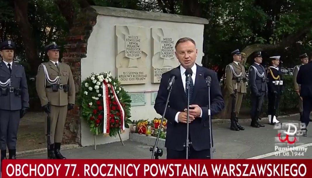 propolski.pl: Przemówienie prezydenta Dudy podczas obchodów Powstania Warszawskiego
