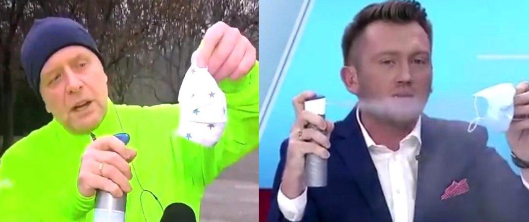 propolski.pl: Dziennikarz TVP udowadnia skuteczność maseczek