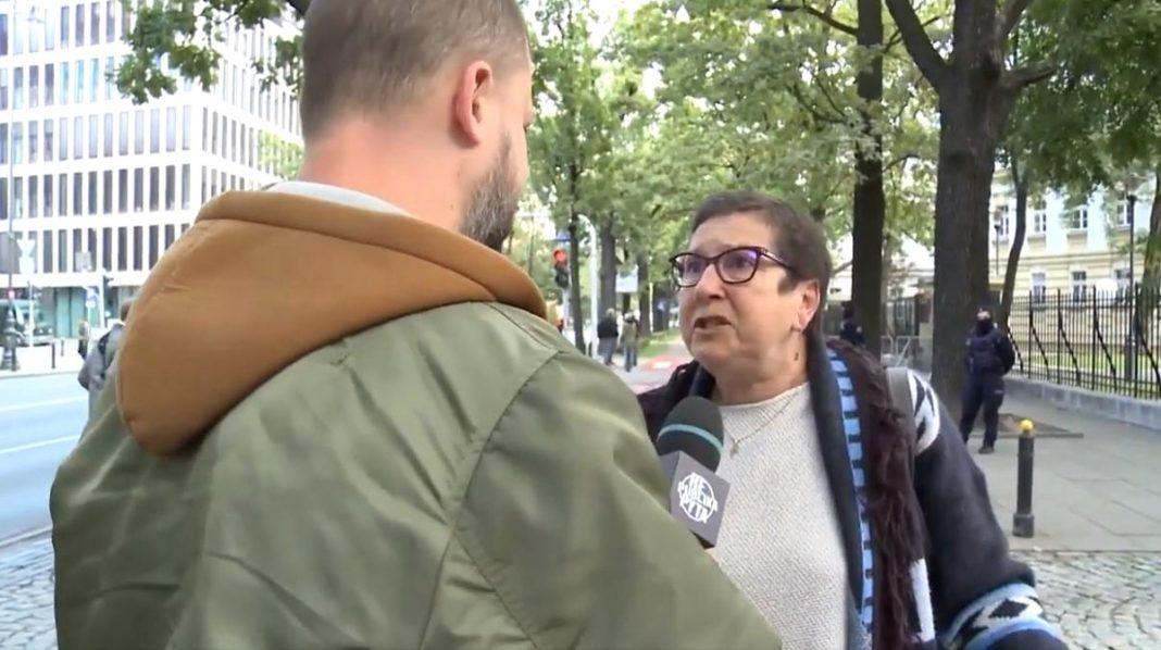 propolski.pl: Sympatyczna pani z KOD-u w rozmowie z dziennikarzem